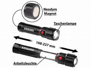 Led Akku Taschenlampe : kryolights 2in1 taschenlampe arbeitsleuchte mit 2x 3 watt led neodym magnet ~ Eleganceandgraceweddings.com Haus und Dekorationen