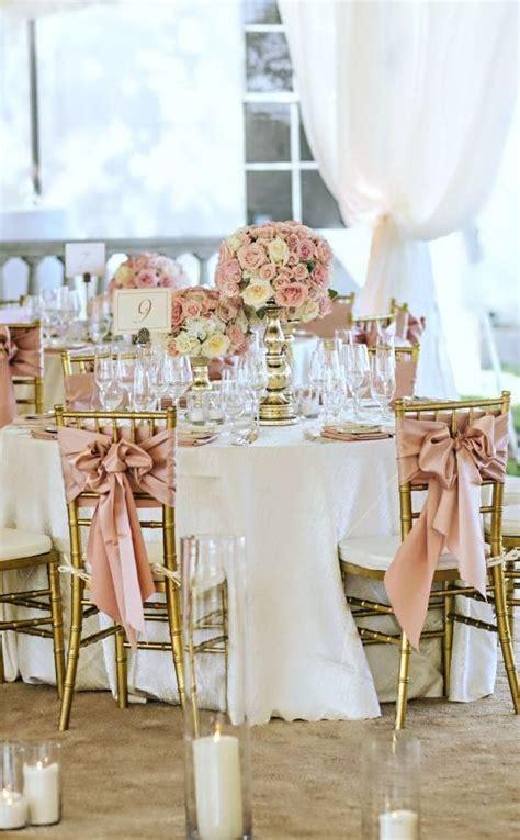 decoracion de bodas en rosa  oro decoracion nupcial