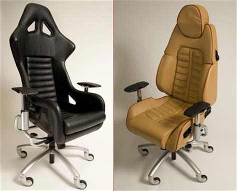 sportscar office chairs made from lamborghini