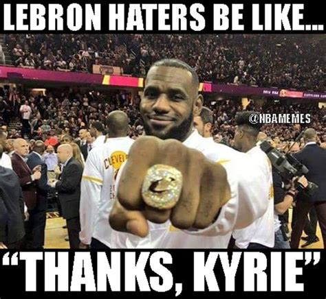 Lebron Hater Memes - nba memes on twitter quot lebron haters will never give the king his credit https t co zg550wpwan quot