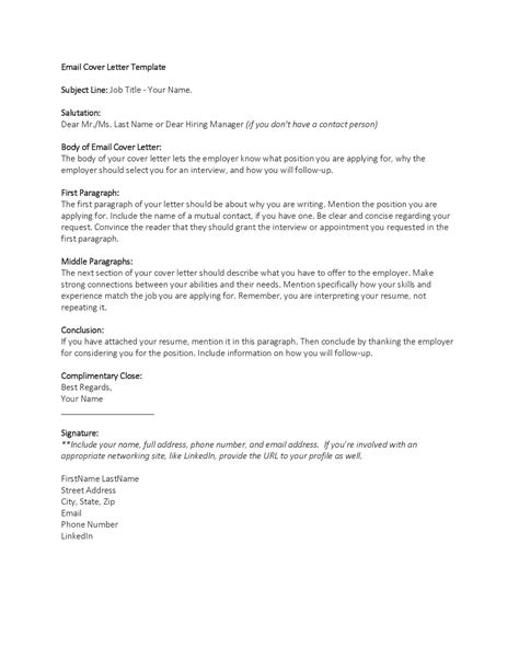 business email cover letter template organization advice