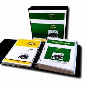Service Parts Manual Set For John Deere 2940 Tractor Shop
