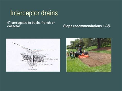 corrugated drain pipe f2 drainage of golf course features