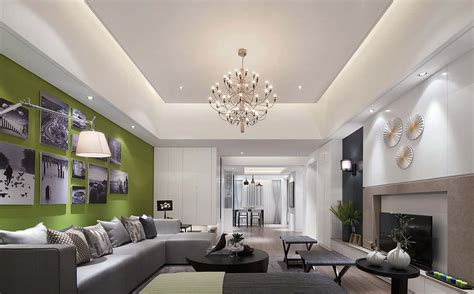 interior design of rectangular living room