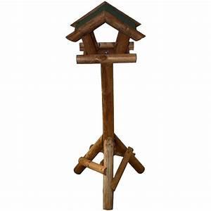 Mangeoire Oiseaux Sur Pied : mangeoire oiseaux sur pied avec toit vert 34 60 ~ Teatrodelosmanantiales.com Idées de Décoration
