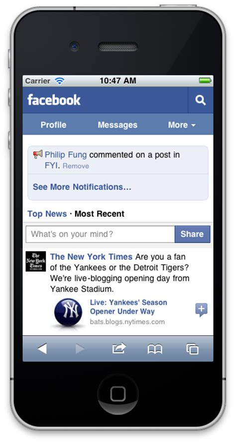 Facebook Revamps Its Mobile Site for the iPhone and More ...
