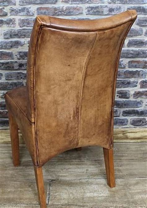 tan leather dining chair classic design  beautiful