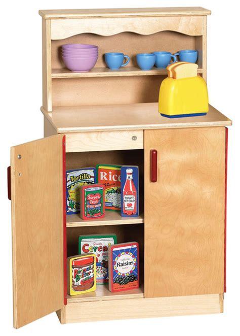 play kitchen storage ecr4kids play birch play kitchen storage cupboard w 1550