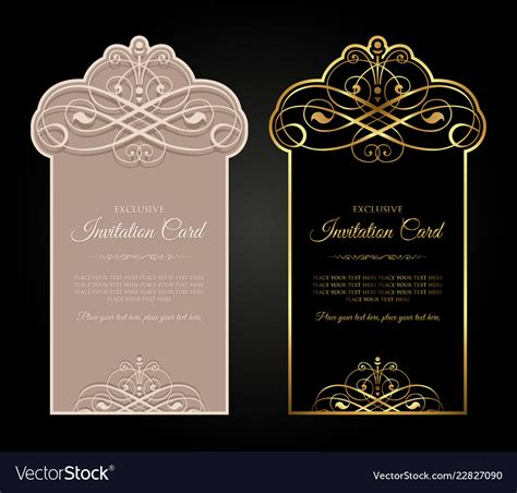 Exclusive invitation card design Royalty Free Vector Image