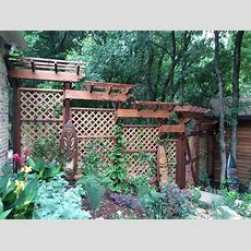 Garden Arbors With Trellises Provide Shade, Privacy, And A