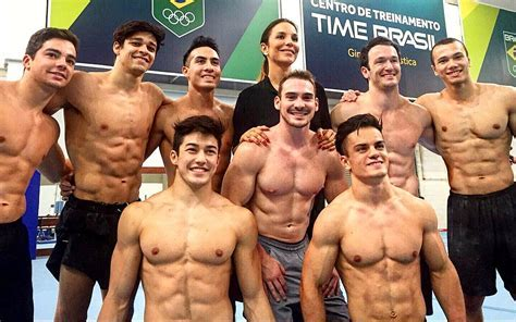 Hottest Pictures Of Brazil S Male Gymnastics Team To