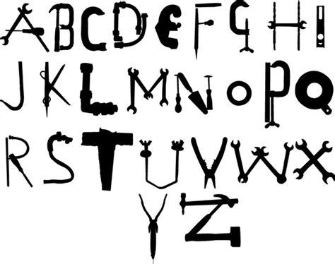 creative alphabet diy tools on behance