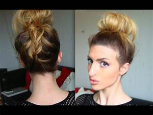 Chignon Cheveux Mi Long : chignon haut facile et rapide sp cial cheveux courts mi ~ Melissatoandfro.com Idées de Décoration