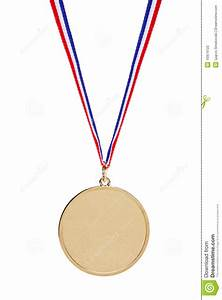 Blank Gold Medal With Tricolor Ribbon Stock Photography ...