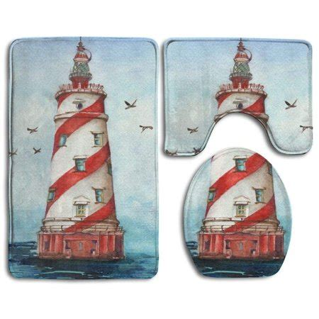 Lighthouse Bath Rugs by Pudmad Lighthouse 3 Bathroom Rugs Set Bath Rug