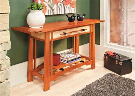 greene greene style hall table woodworking project