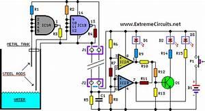 Water Level Indicator Schematic Circuit Diagram