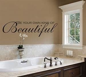 Wall designs for bathrooms : Bathroom wall decals be your own kind of beautiful