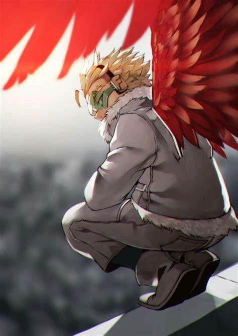 hawks boku  hero academia anime boku  hero