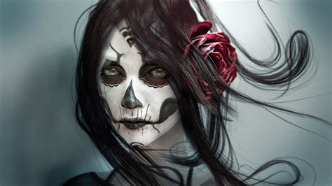 Anime Skull Wallpaper - sugar skull amazing wallpapers hd pictures desktop