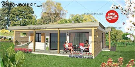 Maison En Bois Prix Au M2 4029 by Maison Bois Moderne 2 Chambres Terrasse Et Toit Plat V 233 G 233 Tal