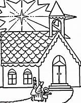 Church Coloring Christmas Colouring Sheets Going Tocolor Place Visits Template Sunday sketch template