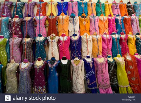 Colourful Sari Clothing Store Little India Singapore Stock