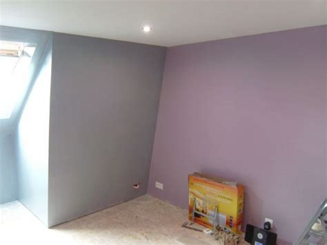 peinture chambre mauve et blanc peinture chambre violet gris