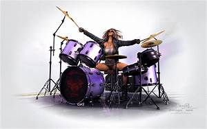 1440x900 3d DrumGirl wallpaper, music and dance wallpapers