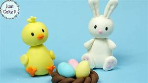 3 Easy Easter Fondant Cake Toppers! Cake decorating for ...