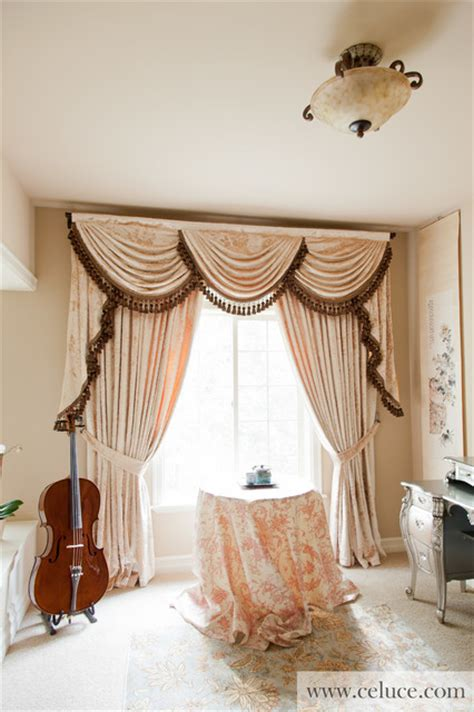 peony pavilion valance curtains  swags  tails