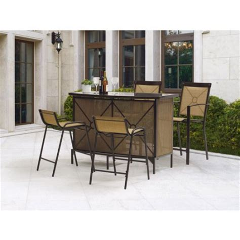 mainstays palmerton landing 5 piece bar height patio