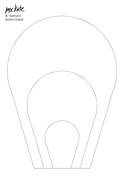 Flower Template Printable Template Flower Template To Print