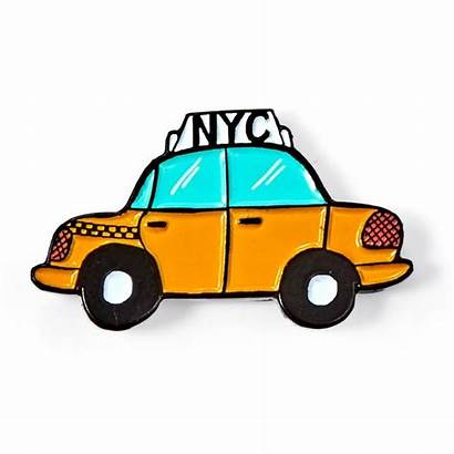 Taxi Nyc Clipart York Enamel Cab Graphic