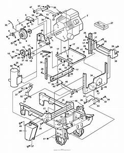 Bunton  Bobcat  Ryan 742105 Power Unit Jzt1250 Parts Diagram For Engine  U0026 Frame Assembly