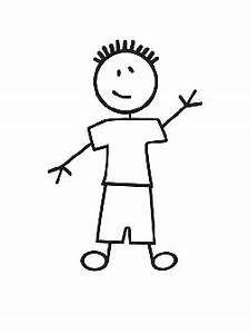 Youth Boy Stick Figure Decal