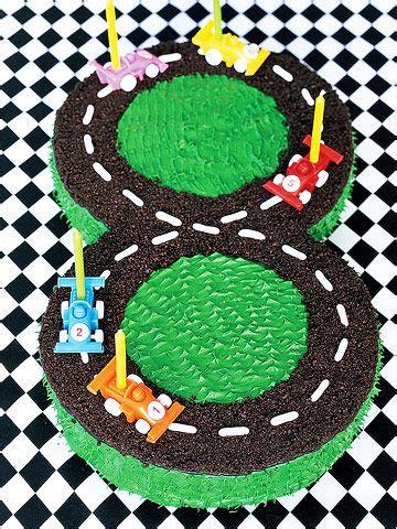 race car track cake parents