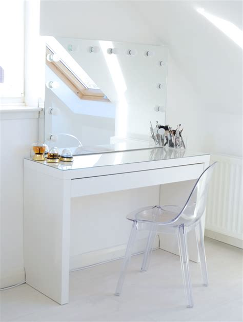 ikea dressing table mirror makeup storage ideas hollywood mirror ghost chairs and
