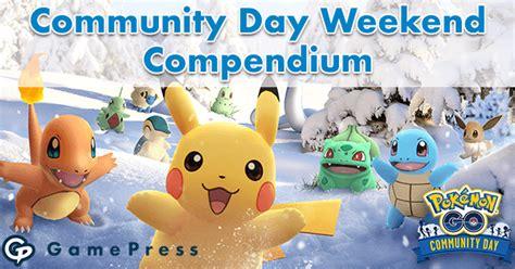community day weekend compendium december  pokemon