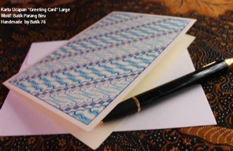 Kartu Ucapan Greeting Card Motif Batik Handmade Jual Beli