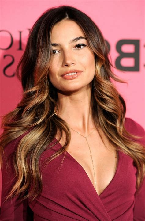 lily aldridge sexy ombre hair  square faces styles weekly