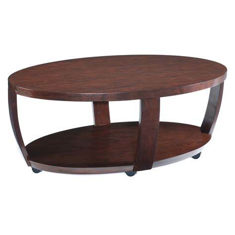 magnussen  sotto wood oval coffee table  hayneedle