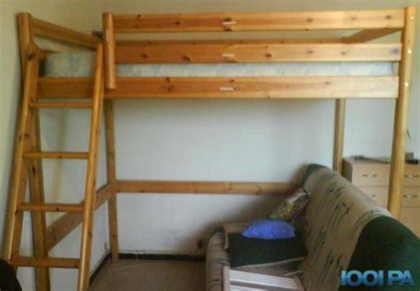 lit mezzanine en bois 1 personne my