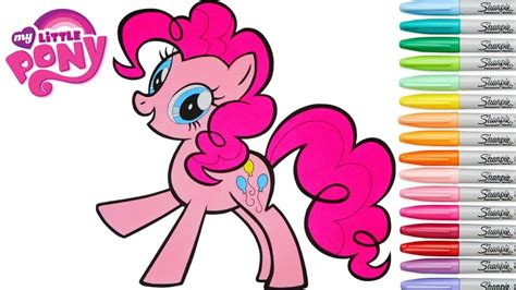 pony coloring book pinkie pie mlp colouring page rainbow splash youtube