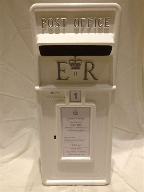 wedding post box royal mail white hire only for wedding