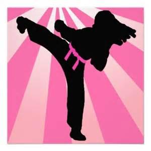 Girl Taekwondo Birthday Party Invitations