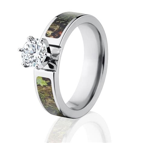 camo rings mossy oak obsession engagement ring w 1 ct cz
