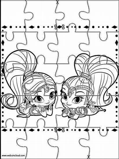 Stampare Shine Shimmer Puzzle Websincloud Bambini Immagini