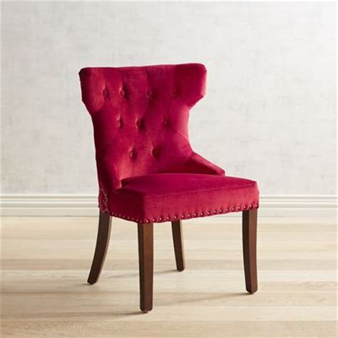 hourglass dining chair red velvet pier 1 imports