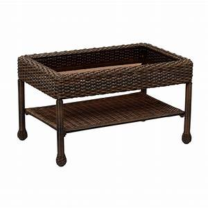 hampton bay mix and match brown wicker outdoor coffee With home depot hampton bay wicker furniture